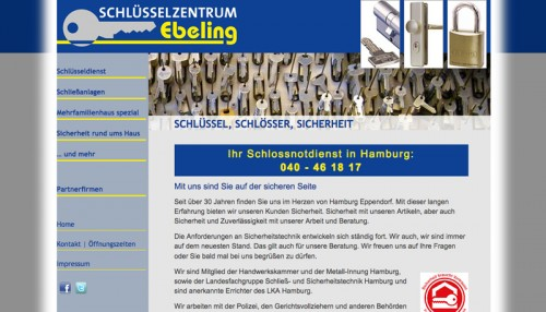 Firmenprofil von: Zuverlässiger Schlüsseldienst in Hamburg: Schlüsselzentrum Ebeling