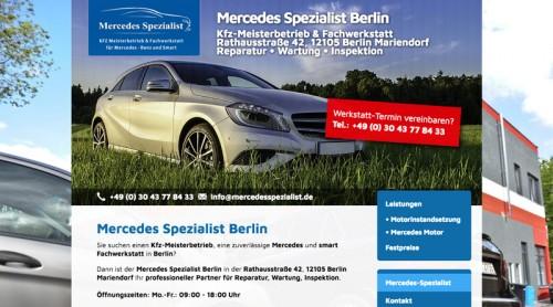 Firmenprofil von: KFZ Meisterbetrieb und Fachwerkstatt in Berlin:  Hochwertige Reparatur für Mercedes und Smart