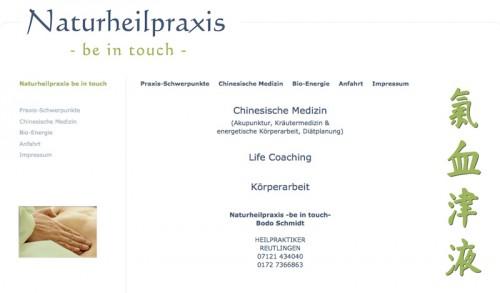 """Firmenprofil von: Schmerztherapie in Reutlingen: Naturheilpraxis """"be in touch"""""""