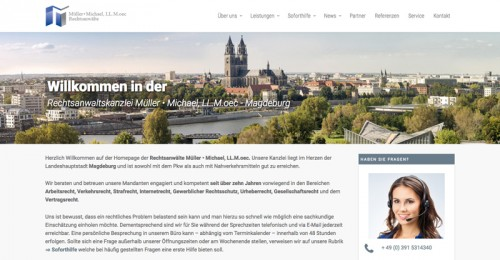 Firmenprofil von: Rechtsanwaltskanzlei Müller & Michael in Magdeburg