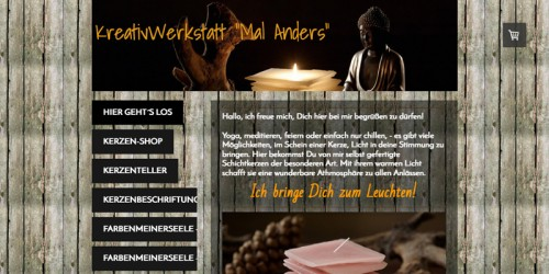 """Firmenprofil von: KreativWerkstatt """"Mal Anders"""" von Claudio Wallig: Originelle Meditationskerzen"""