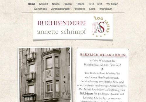 Firmenprofil von: Buchbinderei Annette Schrimpf in Mannheim