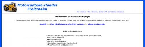 Firmenprofil von: Kompetente Motorradwerkstatt mit Verkauf in Kerpen: Motorradteile Handel Froitzheim