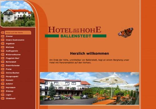 Firmenprofil von: Hotel auf der Hohe in Ballenstedt