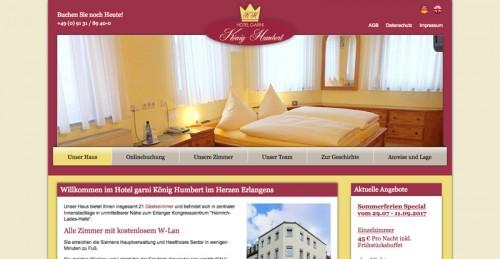 Firmenprofil von: Das zentrale Hotel in Erlangen: König Humbert gehört zu den Geheimtipps