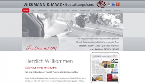 Firmenprofil von: Bestatter in Bergkamen: Bestattungshaus Wiegmann & Maaz GbR