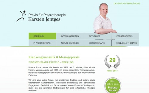 Firmenprofil von: Elektrotherapie bei Karsten Jentges in Krefeld