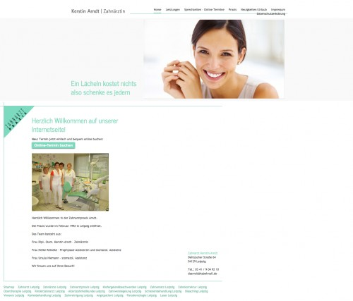 Firmenprofil von: Mit Zahnkorrektur zum neuen Lächeln: Zahnarztpraxis Kerstin Arndt in Leipzig