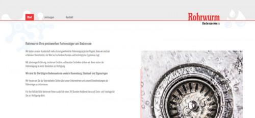 Firmenprofil von: Rohrreinigung am Bodensee – Rohrwurm in Heiligenberg
