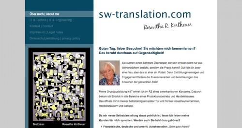 Firmenprofil von: Qualitative Software Übersetzung – Roswitha R. Kortheuer in Langenfeld