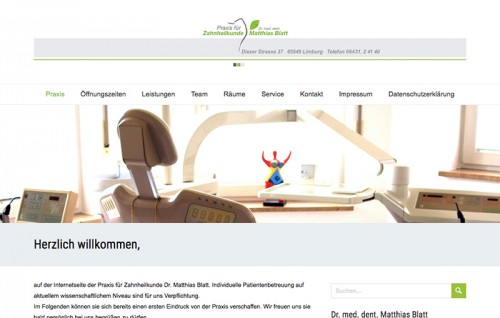 Firmenprofil von: Praxis für Zahnheilkunde – Dr. med. dent. Matthias Blatt in Limburg