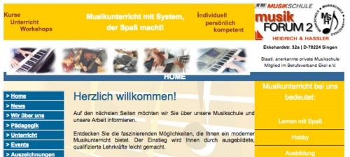 Firmenprofil von: Mit Spaß musizieren: musikFORUM 2 Heidrich & Hassler Musikschule in Singen