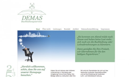 Firmenprofil von: Baulohnabrechnung leicht gemacht: DEMAS Buchhaltungsservice in Nürnberg