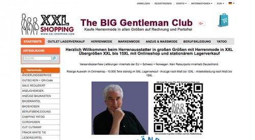 Firmenprofil von: Herrenmode in großen Größen: XXL-Shopping.com