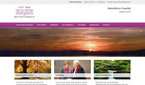 Firmenprofil von: Würdevoller Abschied – Hahn Bestattungen in Neuss