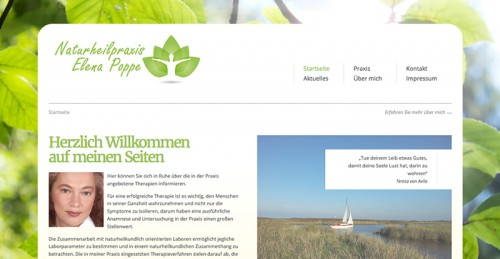 Firmenprofil von: Naturheilpraxis Elena Poppe in Varel