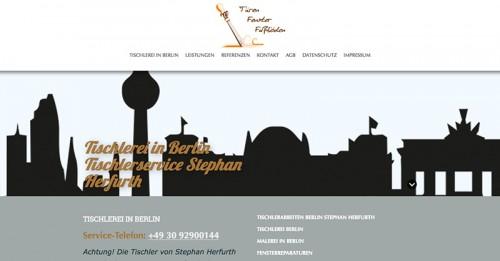 Firmenprofil von: Türenrenovierung von Tischlerservice Herfurth in Berlin
