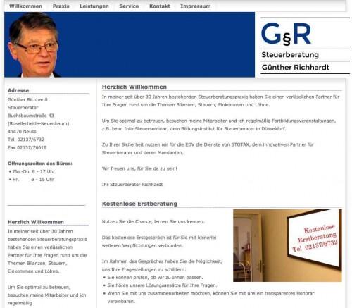 Firmenprofil von: Steuerberater in Neuss: Steuerberatung Günther Richhardt