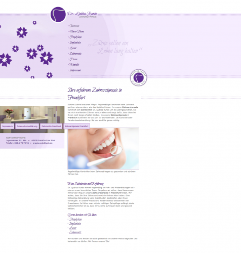 Firmenprofil von: Zahnarztpraxis Dr. Ljubica Rundo in Frankfurt am Main