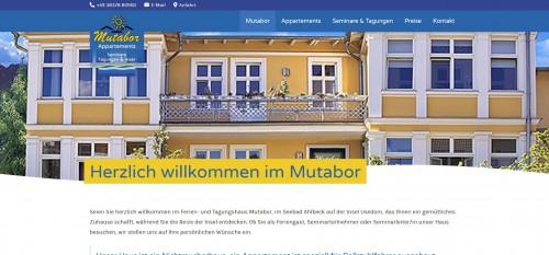 Firmenprofil von: Tagungsräume im Norden Deutschlands – Mutabor Appartements in Usedom