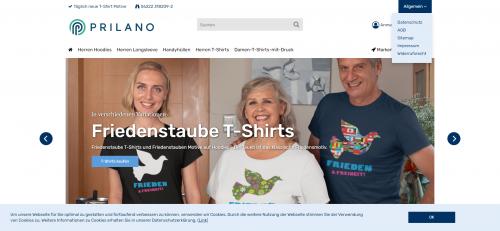 Firmenprofil von: Originelle T-Shirts mit Aufdruck vom Prilano Shirtshop