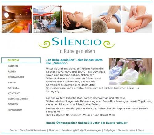 Firmenprofil von: Saunahaus Silencio in Freiburg-Munzingen