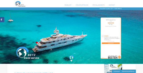 Firmenprofil von: Weltweite Kreuzfahrten buchen mit den Profis von BETZ Travel Service