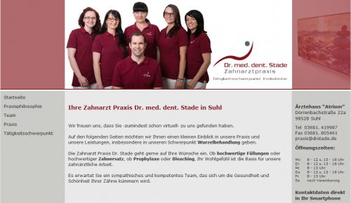 Firmenprofil von: Zahnarzt Suhl: Dr. med. dent. Stade