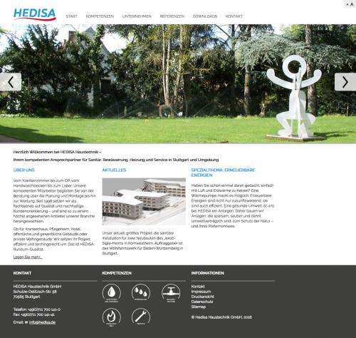 Firmenprofil von: Die Experten für Anlagenbau in Stuttgart: Bestens beraten bei der HEDISA Haustechnik GmbH