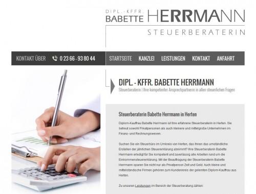 Firmenprofil von: Steuerberatung in Herten: Babette Herrmann