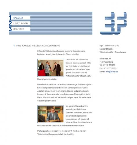 Firmenprofil von: Kompetente Steuerberatung – Kanzlei Fiedler in Leonberg