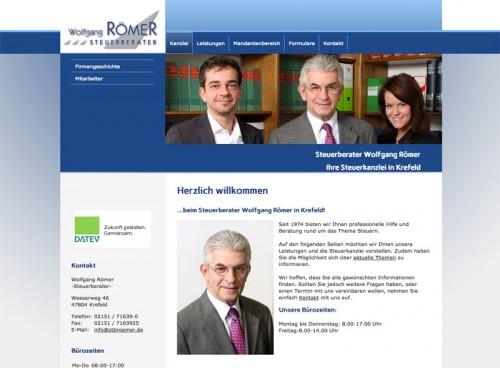 Firmenprofil von: Steuerberater Wolfgang Römer in Krefeld