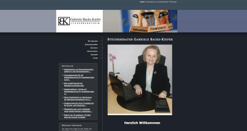 Firmenprofil von: Steuerberatung Gabriele Backs-Kiefer in Balingen