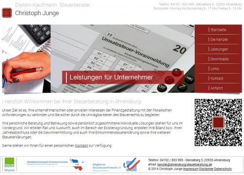 Firmenprofil von: Steuerberatung Christoph Junge in Ahrensburg