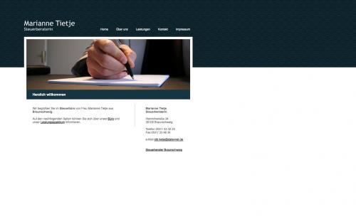 Firmenprofil von: Steuerberatung in Braunschweig: Steuerberaterin Marianne Tietje