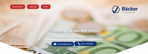 Firmenprofil von: Ihr Partner für steuerliche Angelegenheiten - Steuerberater Rainer Bäcker in Mannheim
