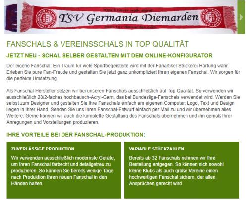 Firmenprofil von: Hartung Strickmoden: Fanschal-Design nach Wunsch