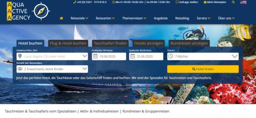 Firmenprofil von: Die perfekte Tauchreise buchen: Aqua Active Agency