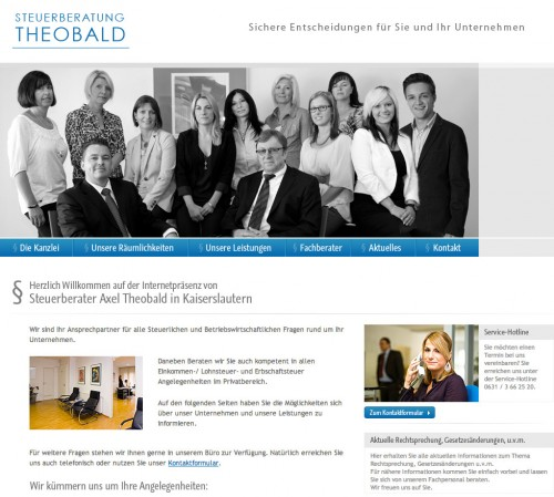 Firmenprofil von: Steuerberatung Theobald in Kaiserslautern