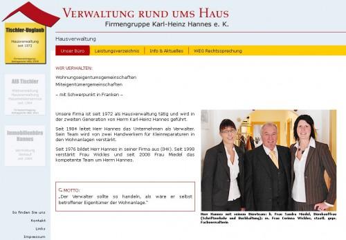 Firmenprofil von: Verwaltung rund ums Haus, Firmengruppe Karl-Heinz Hannes e.K in Bayreuth