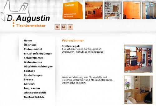 Firmenprofil von: Tischlerei Detlef Augustin in Bielefeld Tischlerei und Schreinerei in der dritten Generation