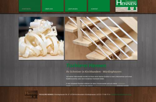 Firmenprofil von: Flexible Tischlerei in Lennestadt: Tischlerei Hennen
