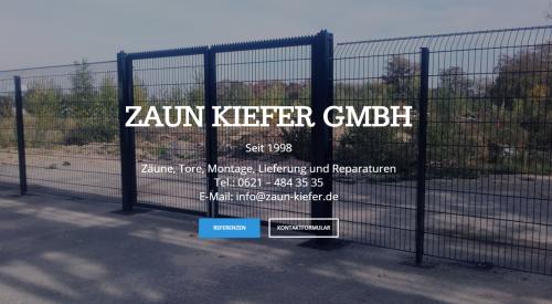 Firmenprofil von: Mit dem richtigen Partner das passende Schiebetor – Zaun Kiefer GmbH bei Mannheim