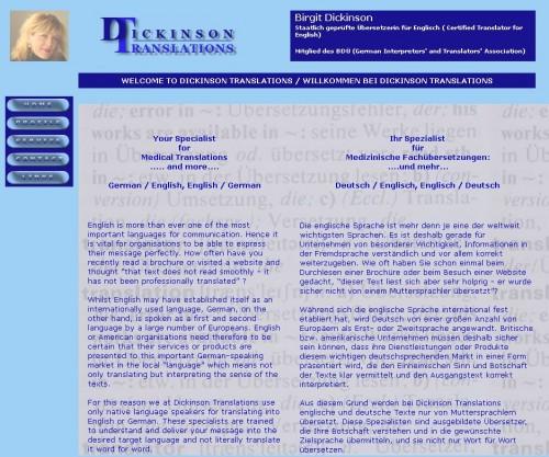 Firmenprofil von: Dickinson Translations in Much
