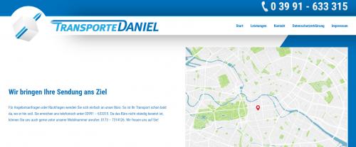 Firmenprofil von: Transporte Daniel – Sicher von A nach B