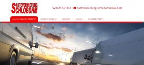 Firmenprofil von: Autovermietung Schlobohm in Bremen: Transporter und mehr