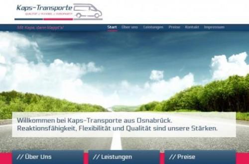 Firmenprofil von: Kurierfahrten und Overnight Transporte in Osnabrück:  Kaps Transporte transportiert zuverlässig