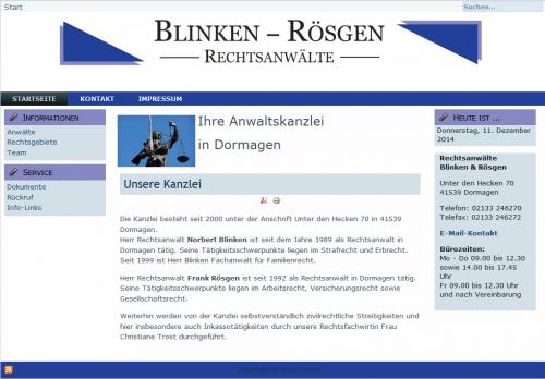 Firmenprofil von: Rechtsanwälte Blinken und Rösgen