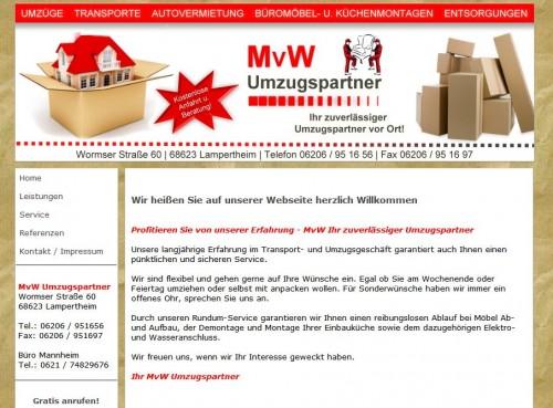 Firmenprofil von: Sicher und zuverlässig: MvW Umzugspartner in Bensheim