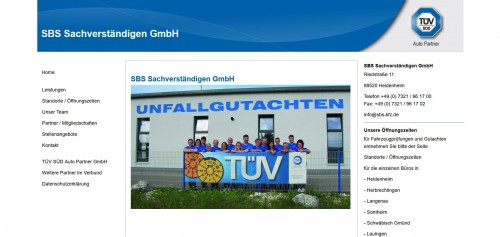 Firmenprofil von: Ihr Experte für technische Gutachten: SBS Sachverständigen GmbH